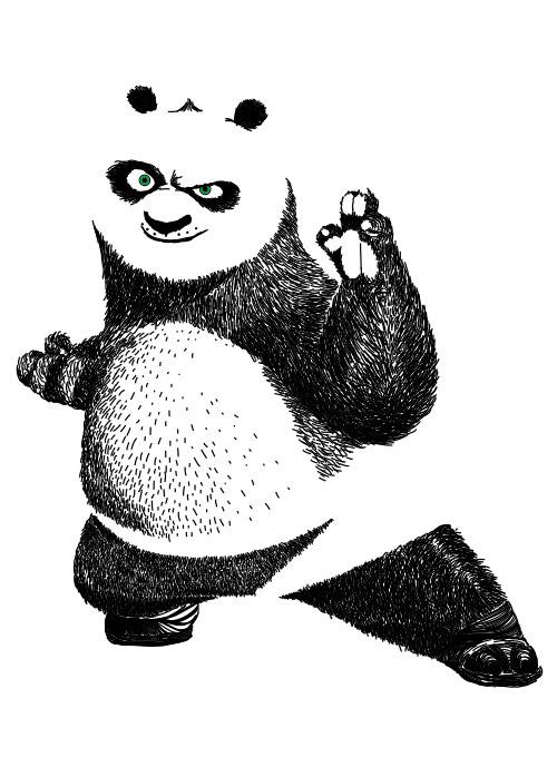 功夫熊猫矢量_素材中国sccnn.com