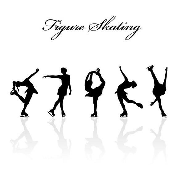 素材分类: 矢量肢体动作所需点数: 0 点 关键词: 花样滑冰人物剪影矢