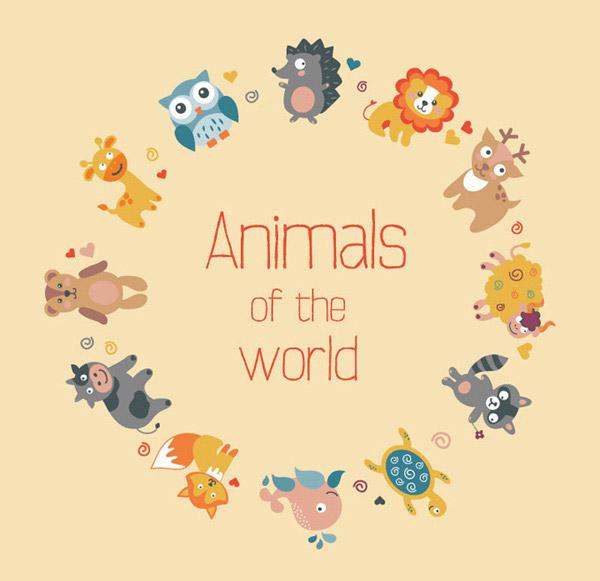 素材分类: 矢量卡通动物所需点数