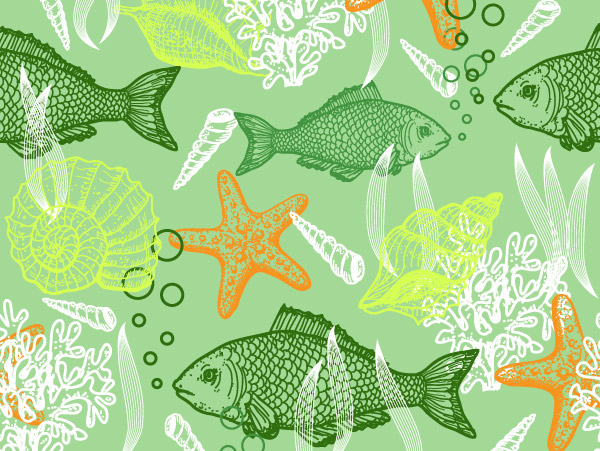 海洋动物矢量_水中生物