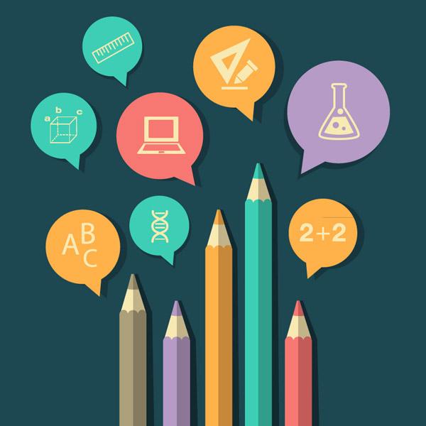 0 点 关键词: 清新彩色铅笔背景矢量素材,铅笔,彩色铅笔,教育,校园