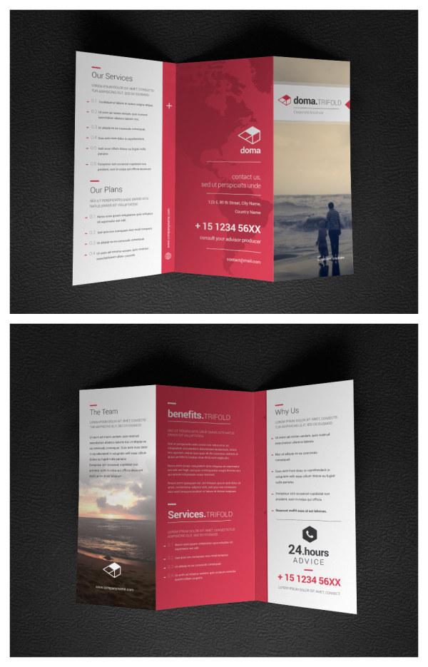 企业宣传三折页 素材中国sccnn Com