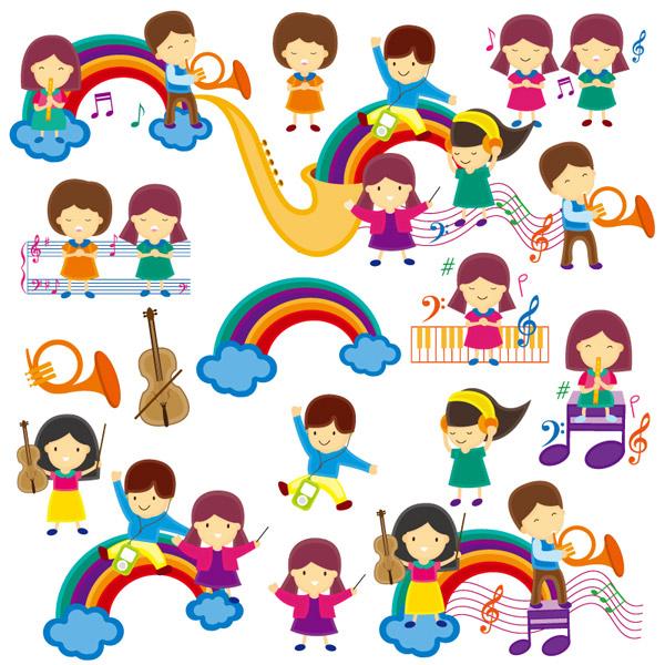 素材分类: 矢量儿童幼儿所需点数: 0 点 关键词: 可爱卡通儿童音乐课