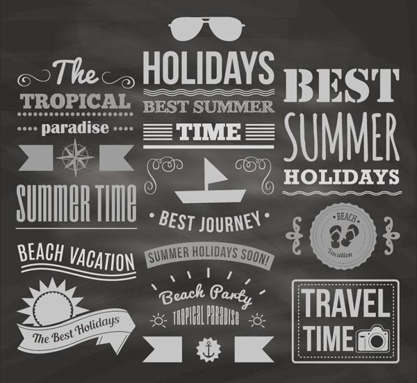 夏日假期英文图片