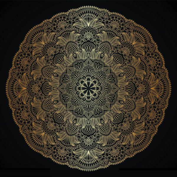 圆形创意花纹