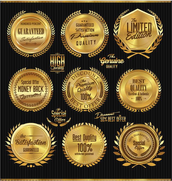 金色金属质感,销售标签