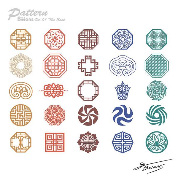 矢量传统所需点数: 0 点 关键词: 中国风系列精美雕花图案矢量素材