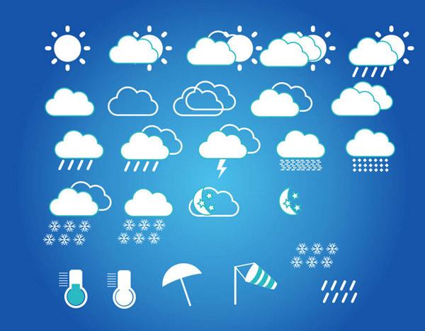 素材分类: 矢量各式图标所需点数: 0 点 关键词: 天气预报标志矢量