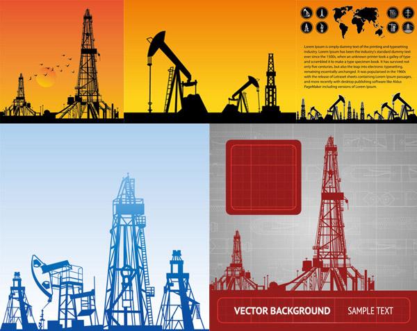 施工,器械,剪影,设备,世界地图,图标,火光,矢量图,装置,油井,天线,eps