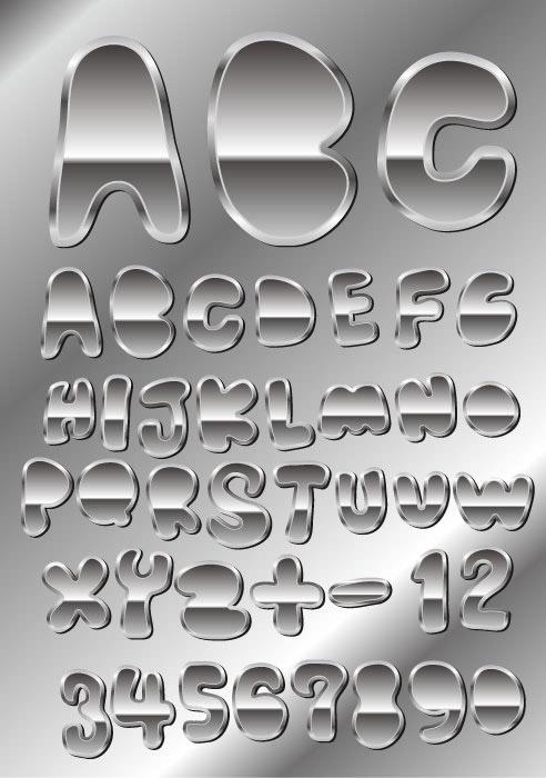 素材分类: 矢量艺术字所需点数: 0 点 关键词: 金属质感字体设计04