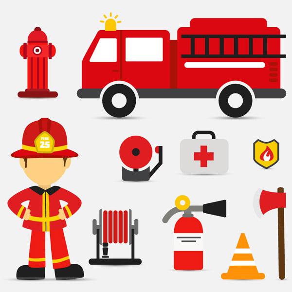 消防元素图标