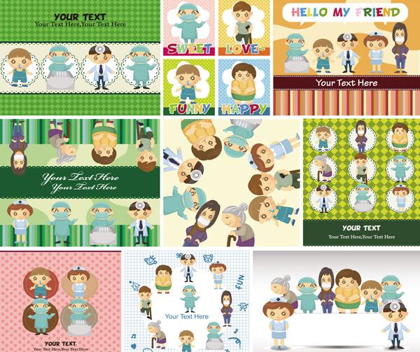 儿童卡通插画矢量素材免费下载,背景,卡通,卡通形象,孩子,可爱,矢量