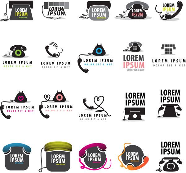 电话类logo