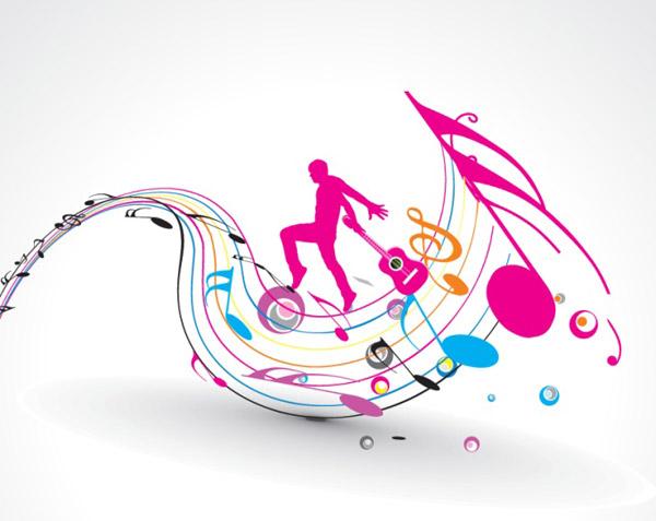 音乐音符海报图片手绘图