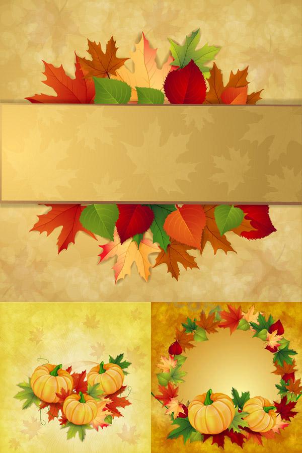 秋季素材卡片