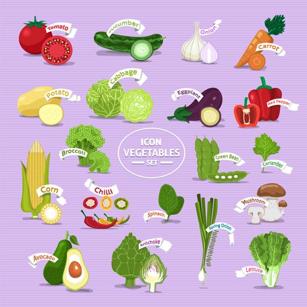 新鲜蔬菜图标