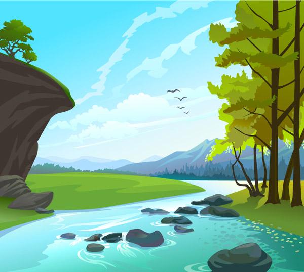 卡通山水画