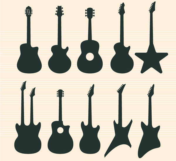吉他,古典吉他,佛拉门哥吉他,夏威夷吉他,电吉他,民谣吉他,爵士吉他