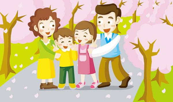 卡通家庭照图片