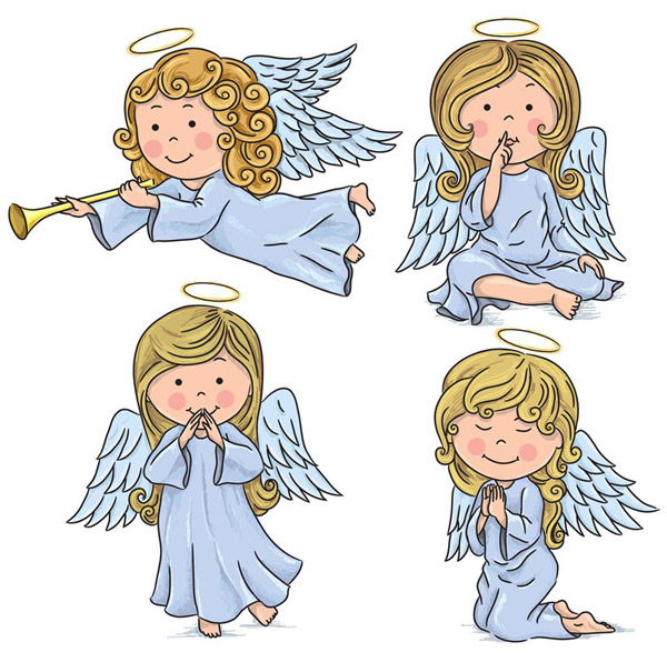 卡通天使简笔画