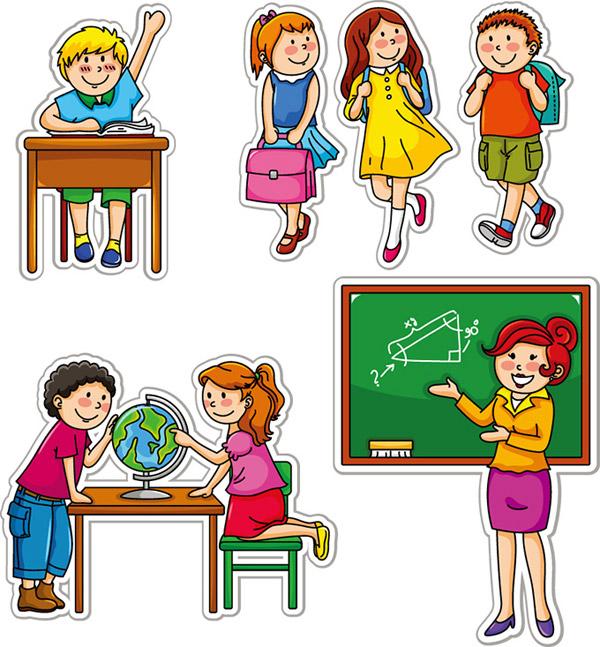 动漫小学生学习