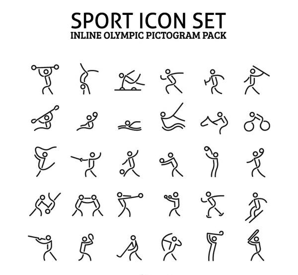体育运动图标_素材中国sccnn.com