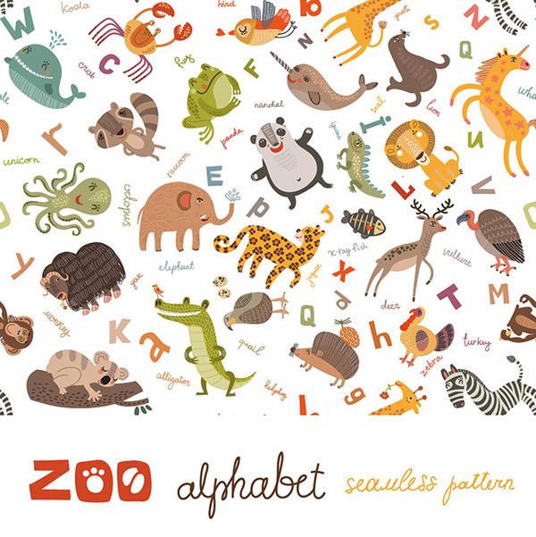 鳄鱼,刺猬,斑马,小猫,狮子,长颈鹿,卡通动物,ai 下载文件特别说明:本