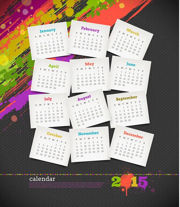 素材分类: 年历日历矢量所需点数: 0 点 关键词: 潮流个性日历设计