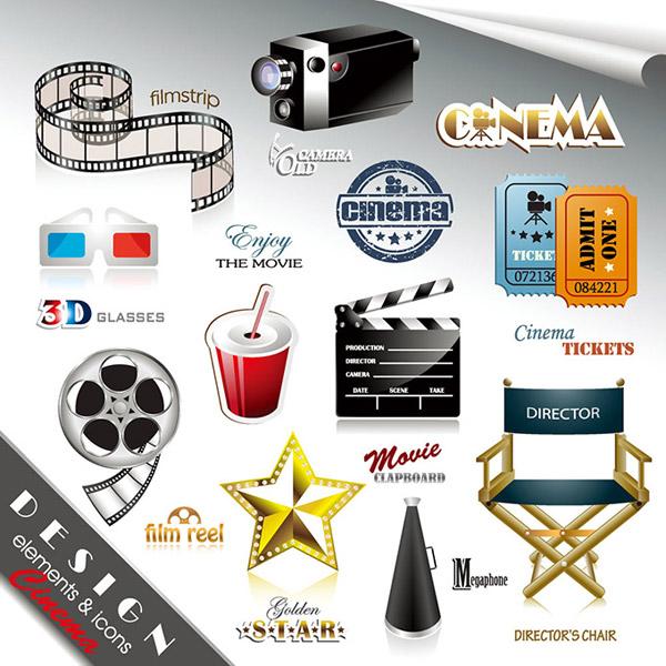 素材分类: 矢量设计元素所需点数: 0 点 关键词: 时尚潮流的电影元素