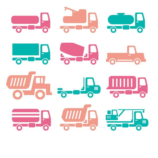 0 点 关键词: 9款彩色车辆图标矢量素材,吊车,汽车,货车,运输车,交通