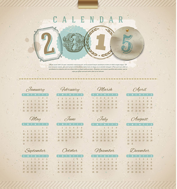 手绘古典羊年日历