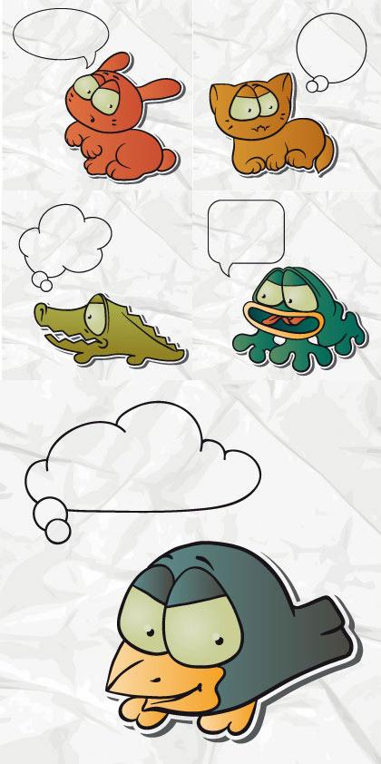 素材分类: 矢量卡通动物所需点数: 0 点 关键词: 可爱卡通动物对话框
