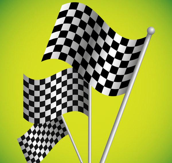 F1赛车黑白方格旗_素材中国sccnn.com