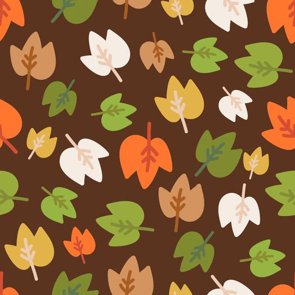 卡通彩色树叶背景
