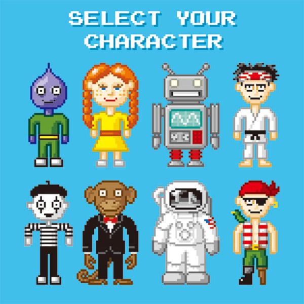 卡通像素游戏人物