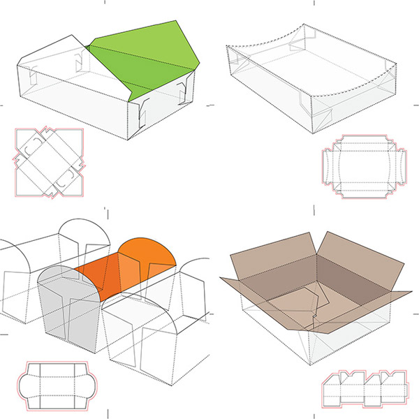 纸质的食品包装盒设计素材