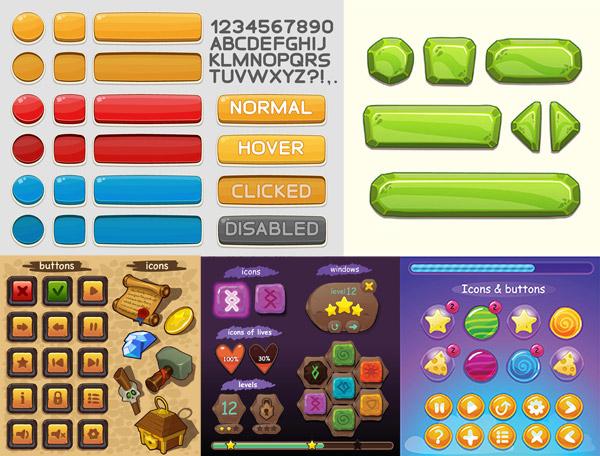 智能手机游戏导航条设计