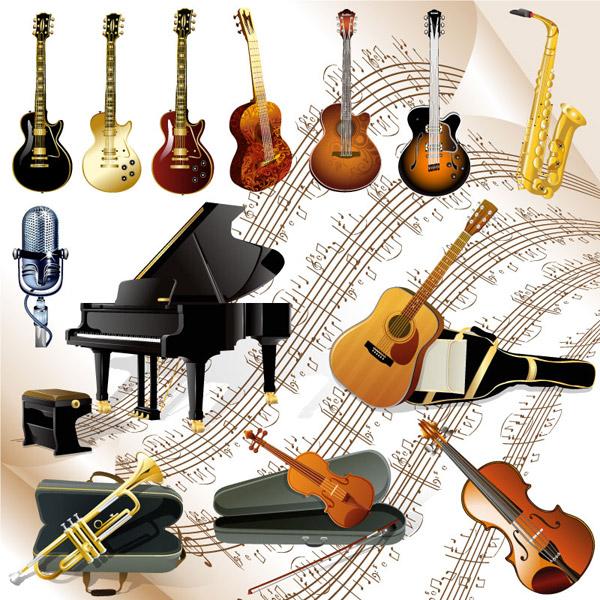 西洋乐器设计图片