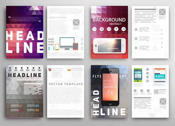 手机时尚图标设计,宣传单页