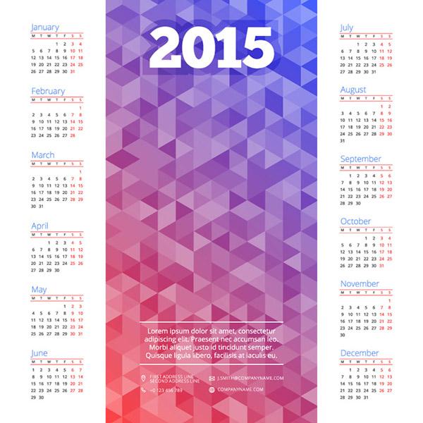 0 点 关键词: 精美的羊年日历素材,多边形,2015年年历,三角形日历,羊图片