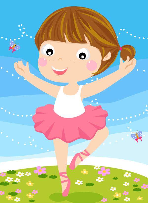 卡通芭蕾舞女孩_素材中国sccnn.com图片