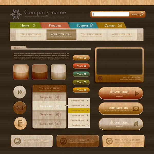网站按钮,网站图标,网站模板,网页设计,eps格式 下载文件特别说明:本