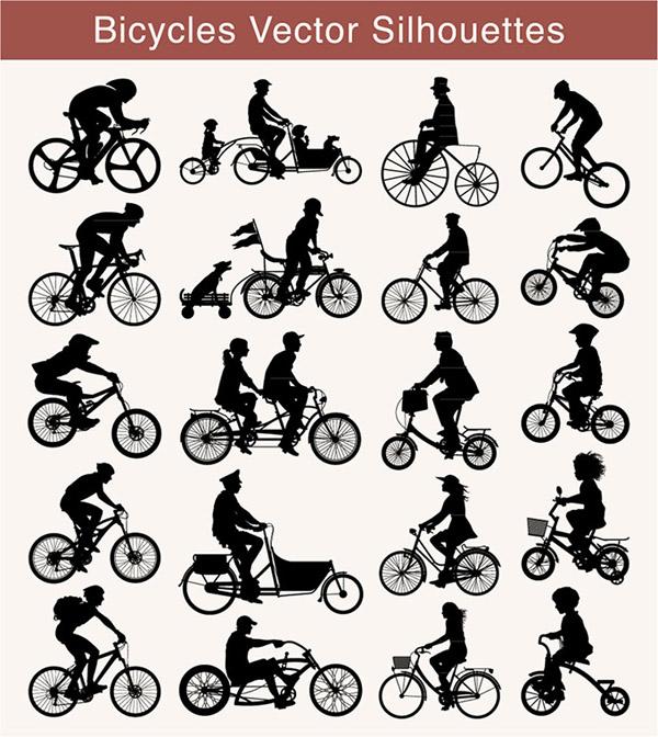 骑自行车的动作