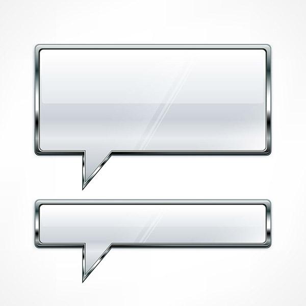 0 点 关键词: 金属对话框设计矢量素材,对话气泡,对话框,长方形,金属
