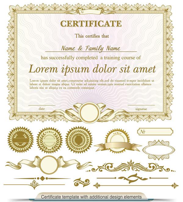 金色证书设计_素材中国sccnn.com