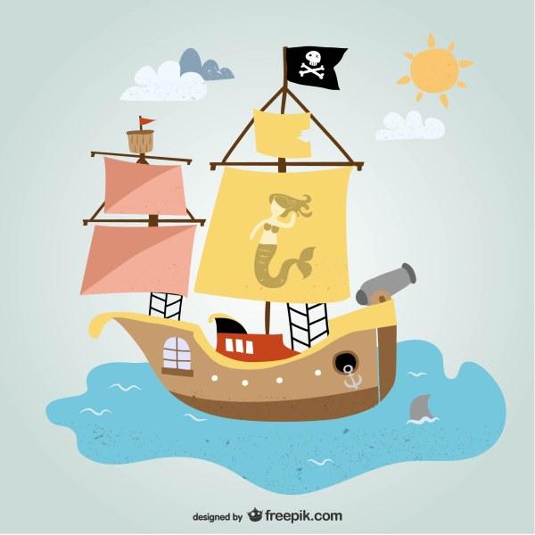 卡通海盗船