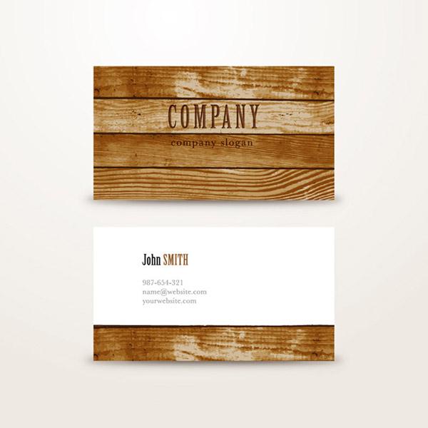 矢量名片卡片所需点数: 0 点 关键词: 木材企业名片设计矢量素材