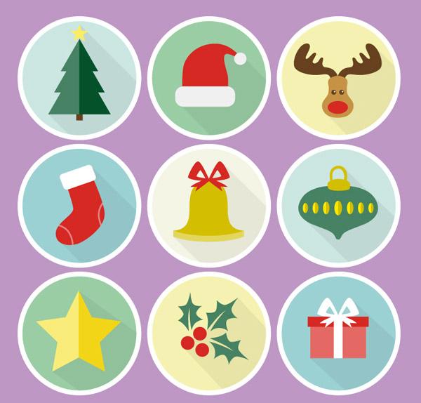 圆形圣诞图标