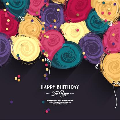 0点 关键词: 生日快乐主题设计,生日,水彩圆圈背景,创意,水彩,圆圈