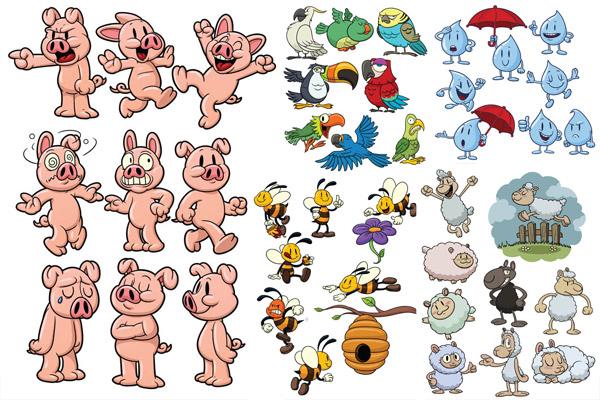 卡通动物矢量3